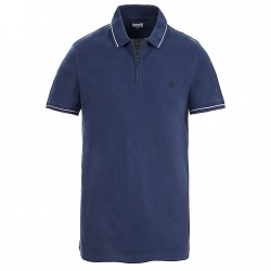 Мъжка тениска Polo Shirt for Men with Zip in Navy