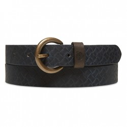 Дамски колан Textured Leather Belt for Women in Blue