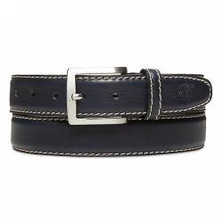 Мъжки колан Belt with Contrast Stitching for Men in Navy