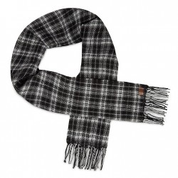 Мъжки шал Tartan Reversible Scarf for Men in Black