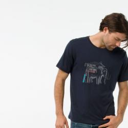 Мъжка тениска Smartwool M App - MERINO150 MAMMOTH DEEP in Navy