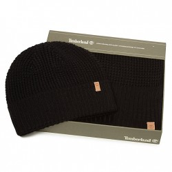Дамски подаръчен комплект Thermal Hat and Scarf Gift Set for Women in Black