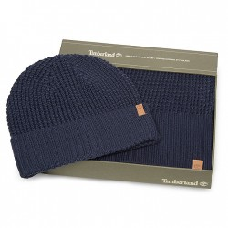 Дамски подаръчен комплект Thermal Hat and Scarf Gift Set for Women in Navy
