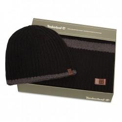 Мъжки подаръчен комплект Ribbed Stripe Gift Set for Men in Black