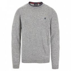Мъжки пуловер Jones Brook Crew Neck Merino Sweater for Men in Grey
