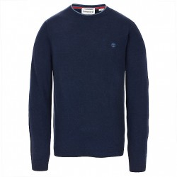 Мъжки пуловер Jones Brook Crew Neck Merino Sweater for Men in Navy