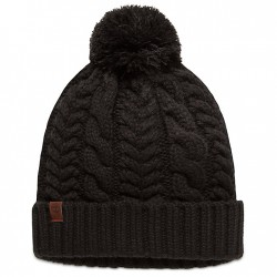 Дамска шапка Cable Pom-Pom Watch Cap for Women in Black