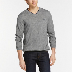 Мъжки пуловер Men's Jones Brook V-Neck Merino Wool Sweater in Grey
