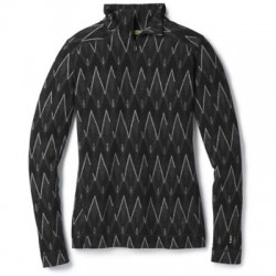 Дамско термо бельо Women's Merino 250 Baselayer Pattern 1/4 Zip in BLACK-CHARCOAL
