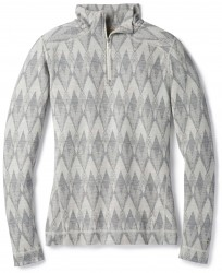 Дамско термо бельо Women's Merino 250 Baselayer Pattern 1/4 Zip in Light Gray-Moonbeam Heather
