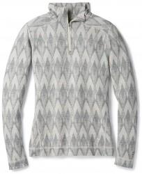 Дамско термо бельо Women's Merino 250 Baselayer Pattern 1/4 Zip in Light Gray-Moonbeam Heather