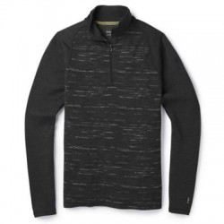 Мъжко термо бельо Men's Merino 250 Baselayer Pattern 1/4 Zip in Charcoal-Black