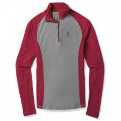 Мъжко термо бельо Men's Merino 200 Baselayer 1/4 Zip in Tibetan Red-Alloy