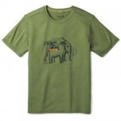 Мъжка тениска Men's Merino 150 Mobile Mammoth Tee in Light Loden