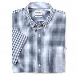 Мъжка риза SS Suncook River Small Gingham Shirt Slim Indigo