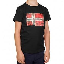 Детска тениска K SEITEM BLACK