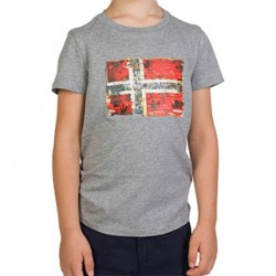 Детска тениска K SEITEM MED GREY MEL
