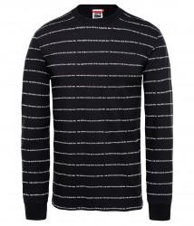 Мъжка тениска с дълъг ръкав M L/S STRIPES TEE TNF BLACK
