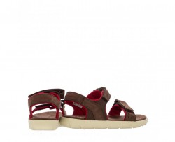 Юношески сандали Nubble Sandal Lthr L/F Dark Brown
