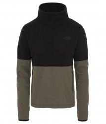 Дамски полар W TKA GLACIER FUNNEL-NECK PULLOVER NEW TAUPE GREEN/TNF BLACK