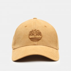 Мъжка шапка Corduroy Baseball Cap for Men in Yellow