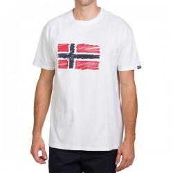 Мъжка тениска STEN SS BRIGHTWHITE 002