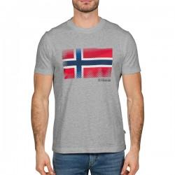 Мъжка тениска SIBU MED GREY MEL