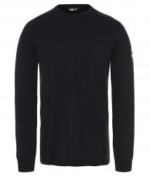 Мъжка блуза M L/S FINE 2 TEE - EU TNF BLACK