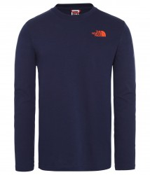 Мъжка блуза M L/S EASY TEE - EU MONTAGUE BLUE