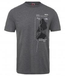 Мъжка тениска M S/S CELEBRATION TEE-EU TNFMDGYHR/TNFBK
