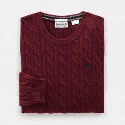 Мъжки пуловер Phillips Brook Cable Sweater for Men in Red