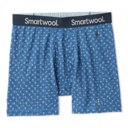Мъжко термо бельо Men's Merino 150 Print Boxer Brief Alpine Blue Tick Stitch Print