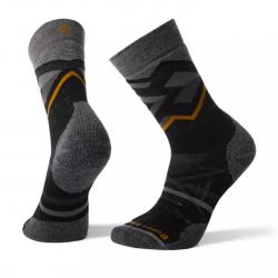 Мъжки чорапи Men's PhD® Outdoor Medium Pattern Hiking Crew Socks Black Heather