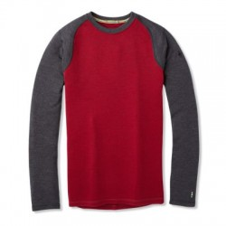 Мъжко термо бельо M Merino 250 BL Crew Bxd TIBETAN RED H-CHARCOAL HEATHER