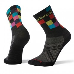 Мъжки чорапи Men's PhD® Run Ultra Light Logo Crew Socks Black