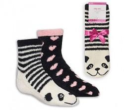 Детски чорапи 2PK GIRLS COZY PANDA BKPK