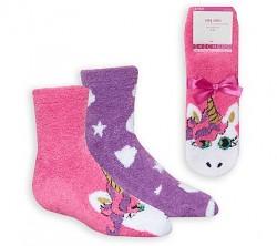 Детски чорапи 2PK GIRLS COZY UNICO PKPR