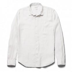 Мъжка риза Mill River Linen Shirt for Men in Light Grey