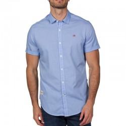 Мъжка риза GODE SS LBLUE CHECK 36C
