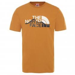 Мъжка тениска M S/S MOUNT LINE TEE TIMBER TAN