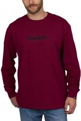 Мъжка блуза S-BOX LS VINT AMARANTH