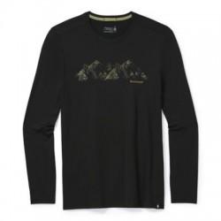 Мъжка тениска с дълъг ръкав M MerinoSprt150UpperSlpsT in BLACK