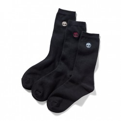 Мъжки чорапи Three Pair Crew Socks Gift Box for Men in Black