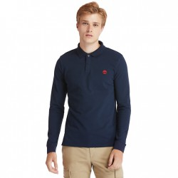 Мъжка блуза Millers River LS Polo Shirt for Men in Navy