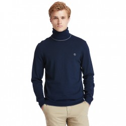 Мъжки пуловер Nissitissit River Merino Sweater for Men in Navy
