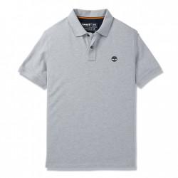 Мъжка тениска Millers River Organic Cotton Polo Shirt for Men in Grey