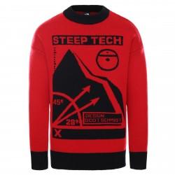 Мъжки пуловер M BLK SRS KNIT TOP HAUTERED/TNFBLK