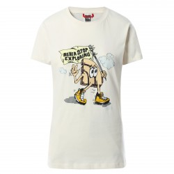 Дамска тениска W GRAPHIC S/S TEE VINTAGE WHITE