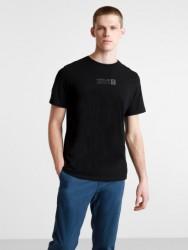 Мъжка тениска Brand Carrier Mini Logo T-Shirt for Men in Black