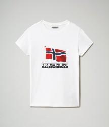 Детска тениска K SEJI SS - BRIGHT WHITE